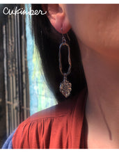 Load image into Gallery viewer, Silver Bloom Drop Earrings