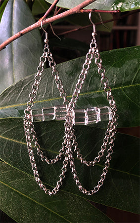 Clear Chain Earrings | cukimber