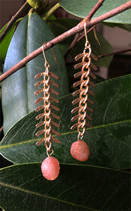 Fishbone Earrings Pink | cukimber