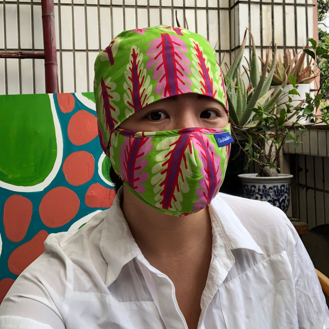 Green Chard Surgical Hat & Mask Set