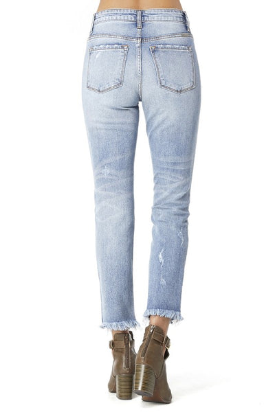 Button Front Jeans