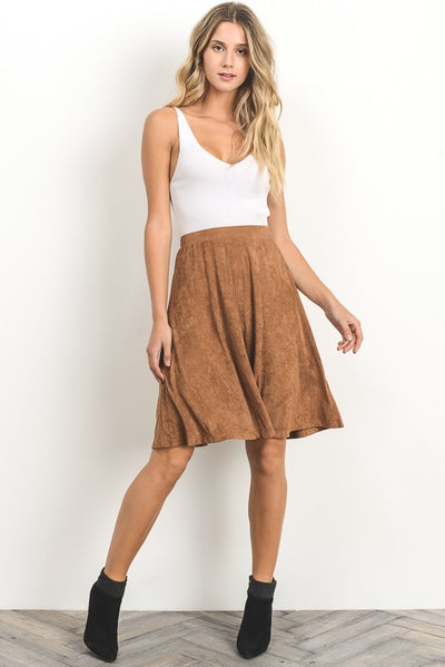 Suede Swing Skirt