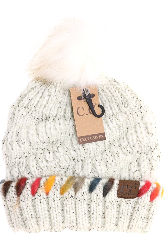 Fuzzy Lined CC Beanies