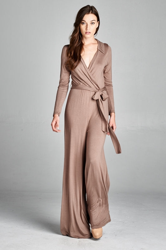 Solid Stretch Jumpsuit