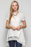 Chiffon Layered Swing Top