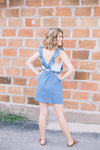 Ruffled Chambray Romper