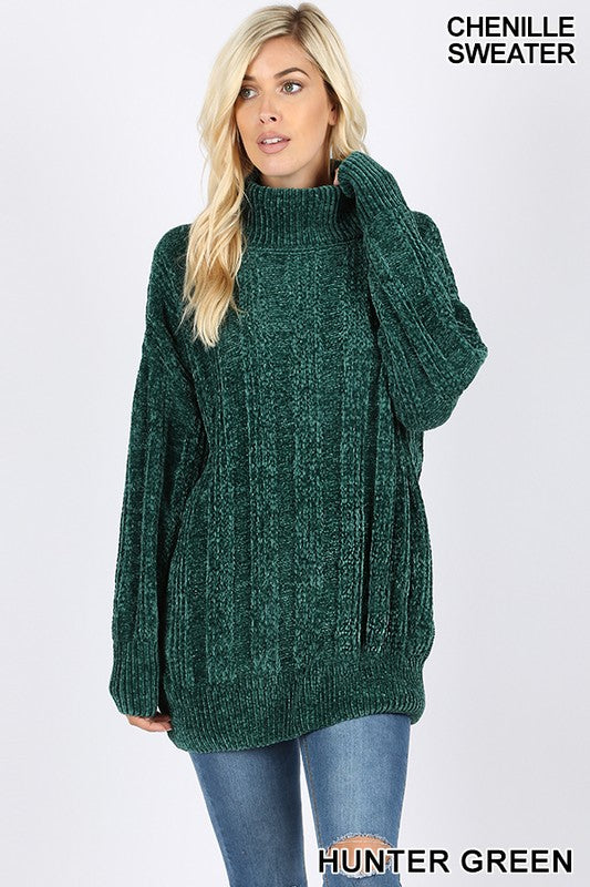 Chenille Turtleneck Sweaters