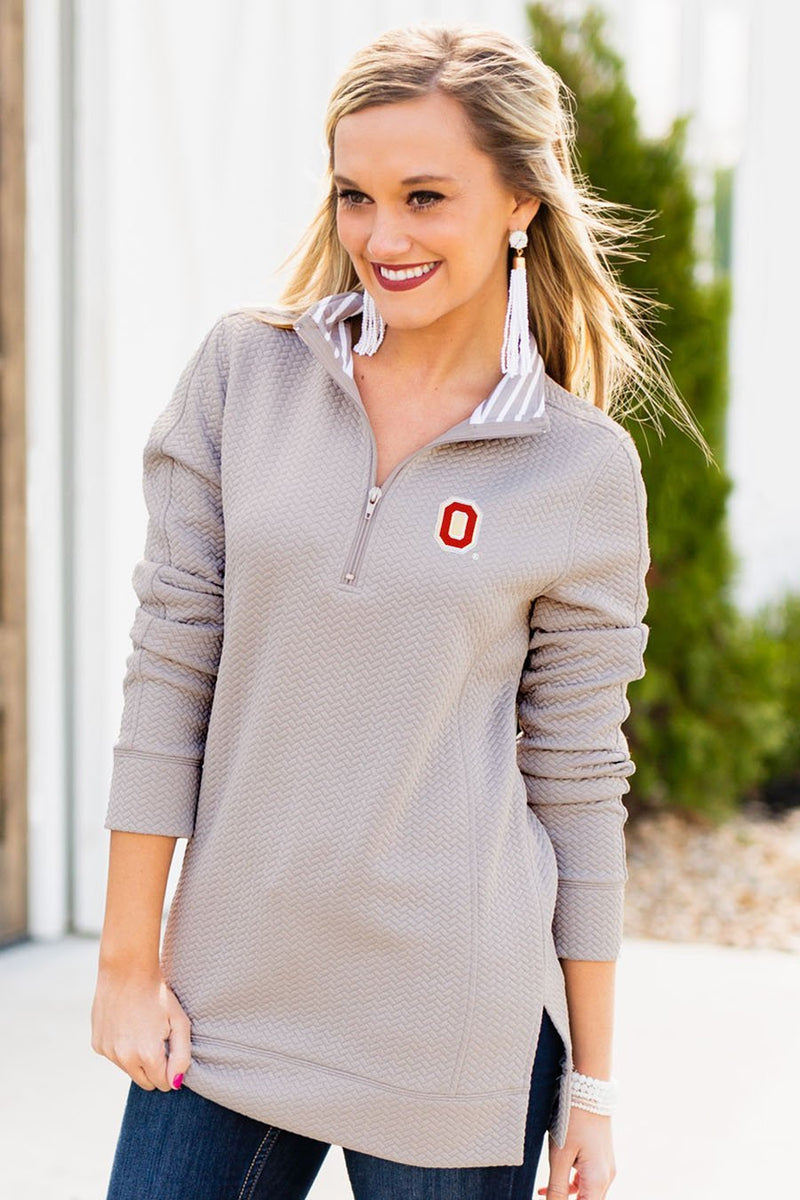 Buckeyes Over And Out Quilted Quarter Zip