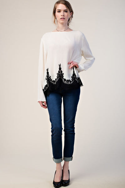 Tunic with Intricate Lace