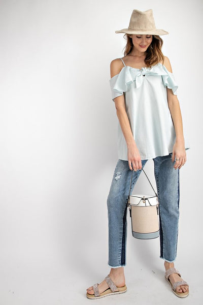 Bow Open-Shoulder Top