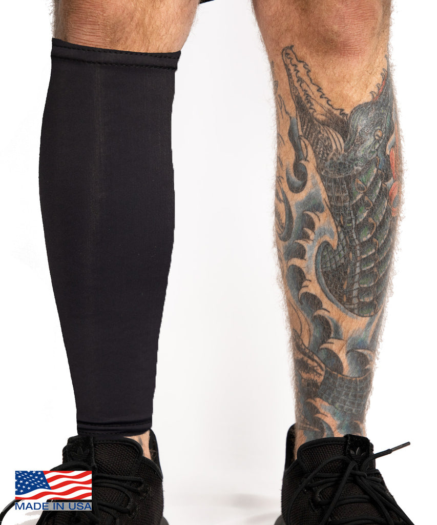 Tattoo Cover Calf Sleeve Black