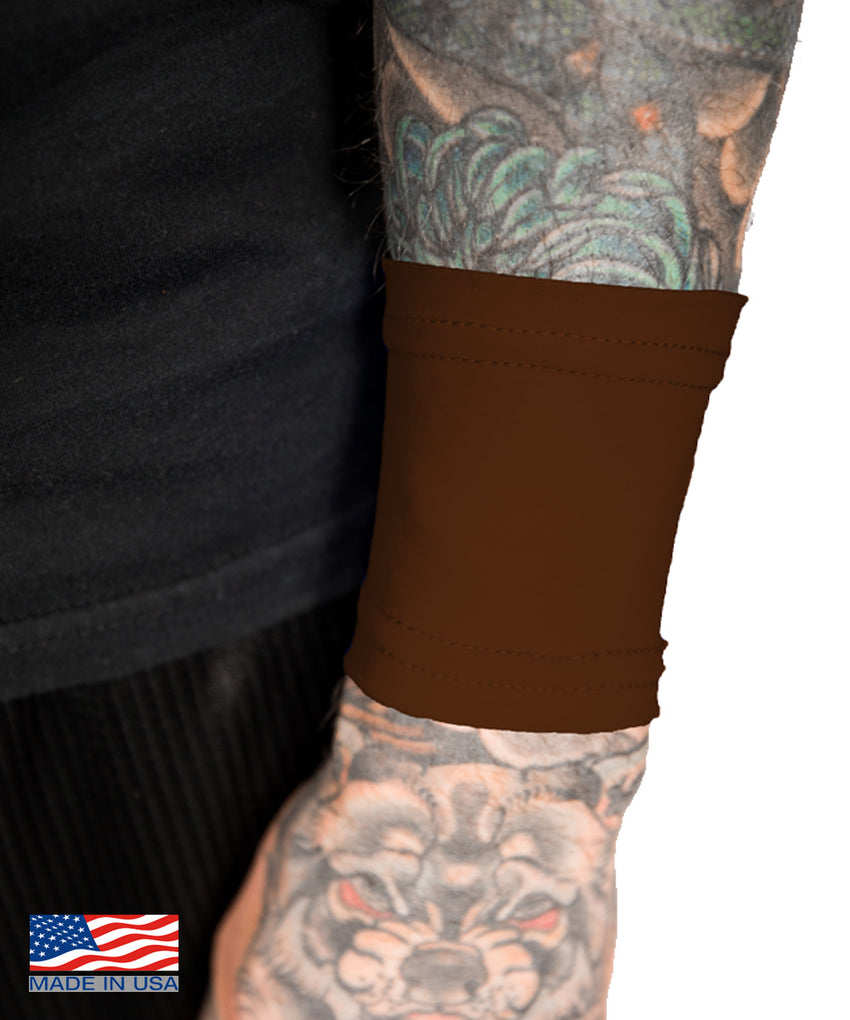 Chocolate Brown Tattoo Cover Small Wrist Sleeve