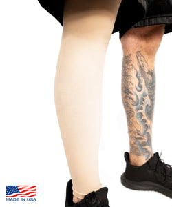 Light Skin Tone Tattoo Cover Full Leg Sleeve