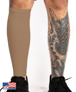 Cappuccino Tattoo Cover Calf Sleeve