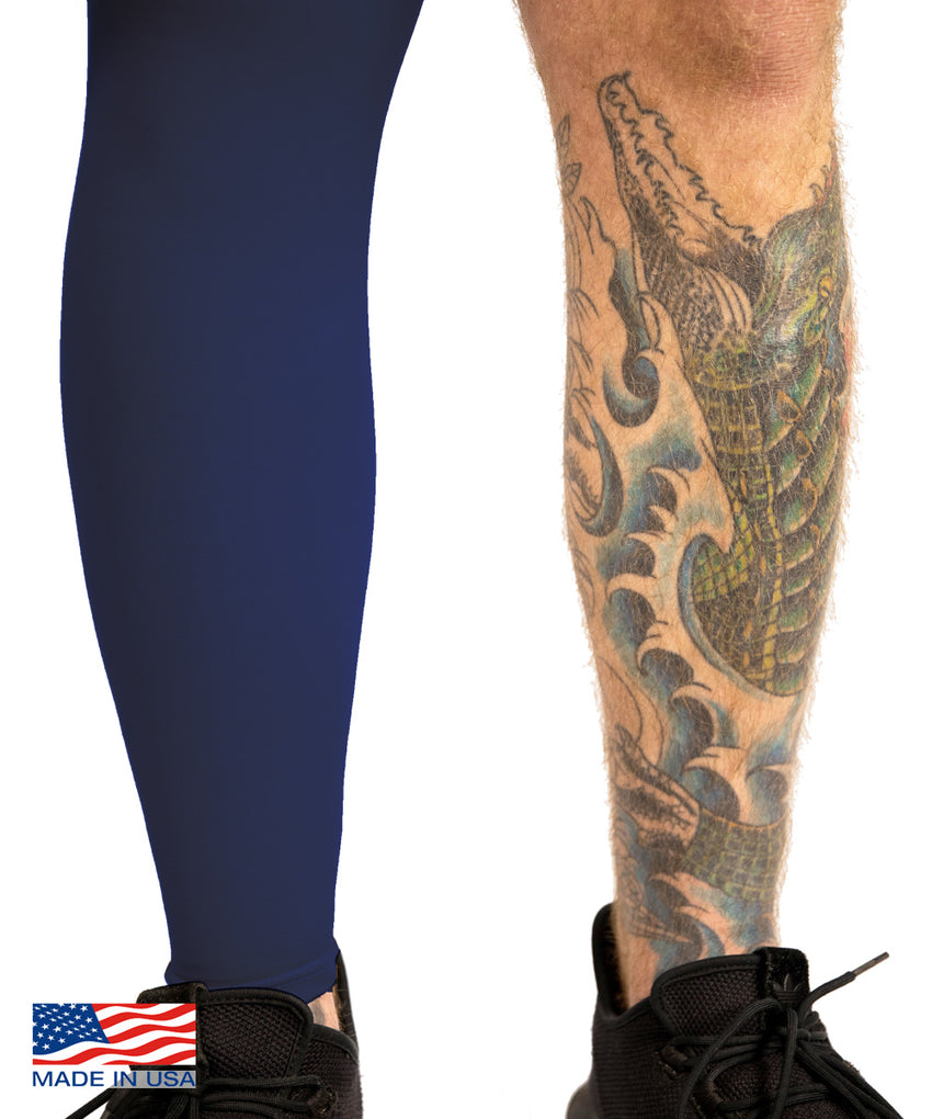 Navy Tattoo Cover Full Leg Sleeve