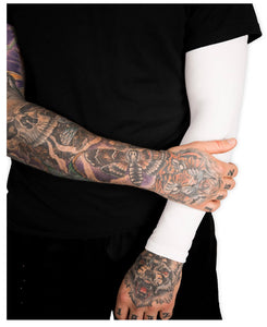 White Compression Full Arm Sleeve