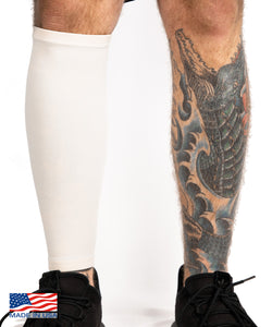 White Calf Tattoo Cover Sleeve