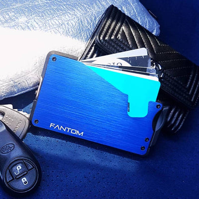FANTOM F7 ALUMINIUM WALLET (BLUE)