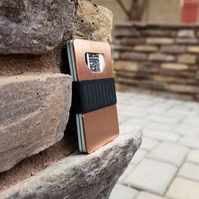 SPINE COPPER MINIMALIST WALLET