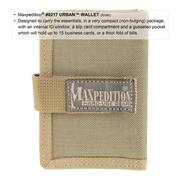 Maxpedition Urban Wallet (Khaki) - Hard Use Gear