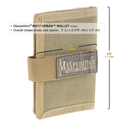 Maxpedition Urban Wallet (Khaki) - Closed View