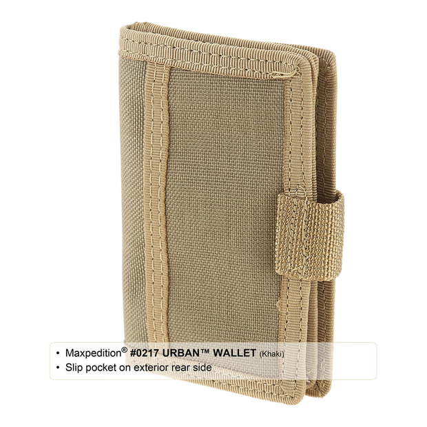 Maxpedition Urban Wallet (Khaki) - Slip Pocket