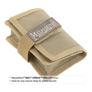 Maxpedition Urban Wallet (Khaki) - Hook & Loop Strap