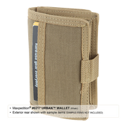Maxpedition Urban Wallet (Khaki) - Back View