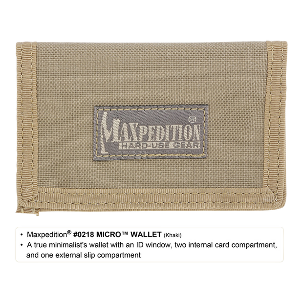 Maxpedition Micro Wallet (Khaki) - Closed View