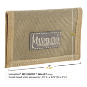 Maxpedition Micro Wallet (Khaki) - Hard Use Gear