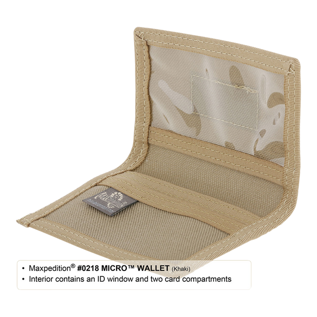Maxpedition Micro Wallet (Khaki) - ID Window
