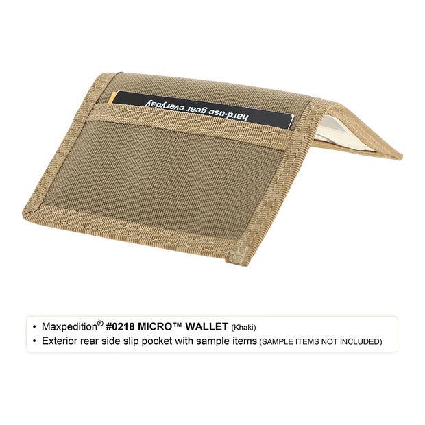 Maxpedition Micro Wallet (Khaki) - Slim Profile