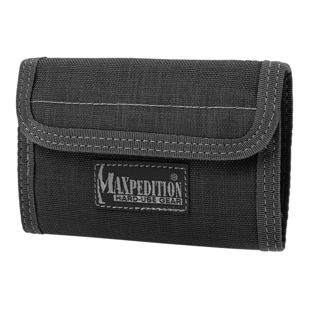 Maxpedition Spartan Wallet (Black) - Front View