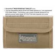Maxpedition Spartan Wallet (Khaki) - Closed View