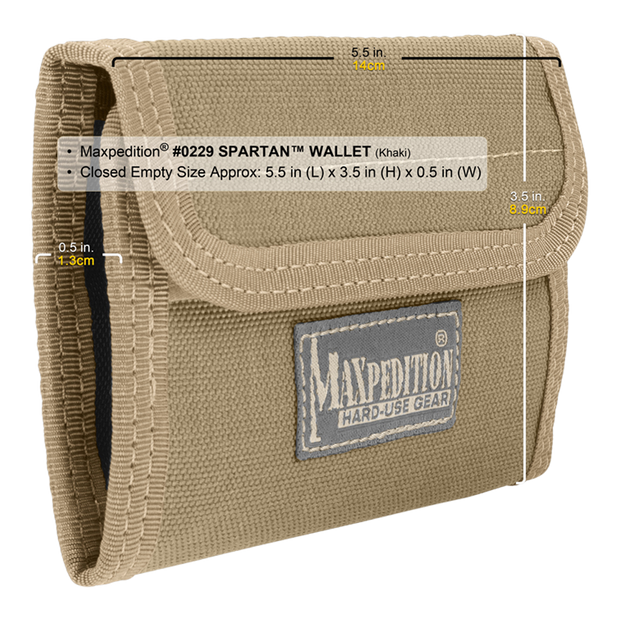 Maxpedition Spartan Wallet (Khaki) - Hard Use Gear
