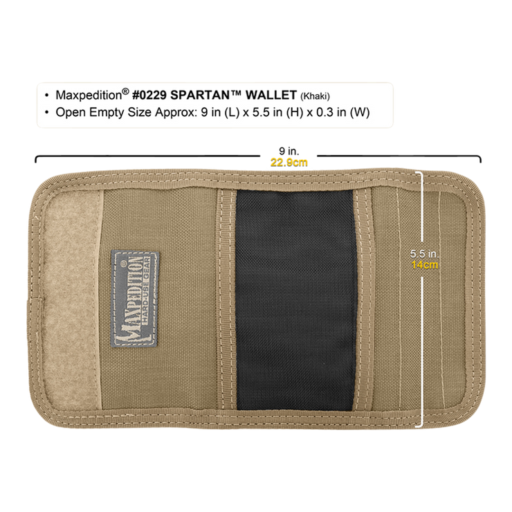 Maxpedition Spartan Wallet (Khaki) - Open View