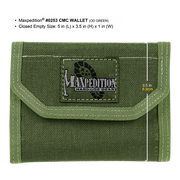 Maxpedition C.M.C. Wallet (OD Green) - Closed View