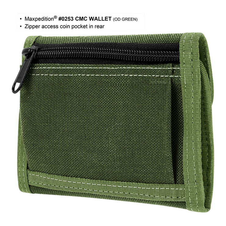 Maxpedition C.M.C. Wallet (OD Green) - Back View