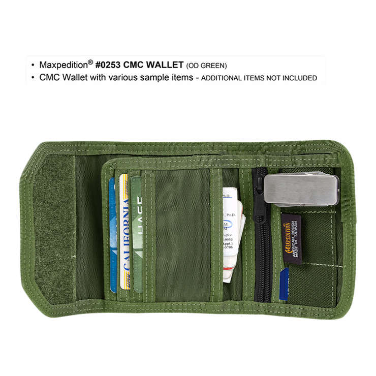 Maxpedition C.M.C. Wallet (OD Green) - Card Slots