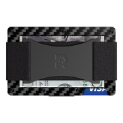 The Ridge Carbon Fibre 3K Cash Strap Wallet  - Back View