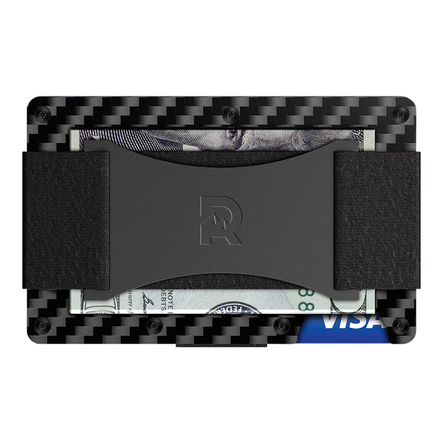 The Ridge Carbon Fibre 3K Cash Strap & Money Clip Wallet  - Cash Strap Back View