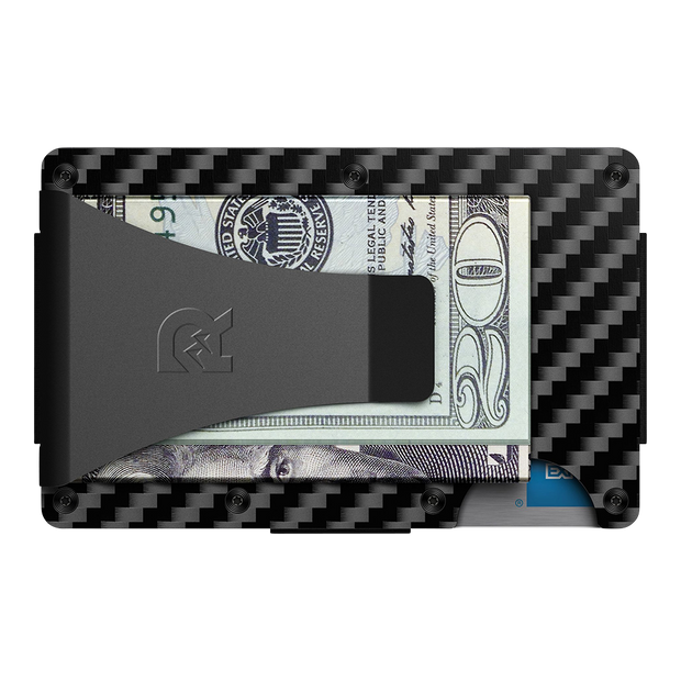 The Ridge Carbon Fibre 3K Money Clip Wallet - Back View