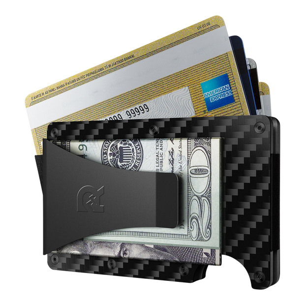 The Ridge Carbon Fibre 3K Cash Strap & Money Clip Wallet  - Money Clip