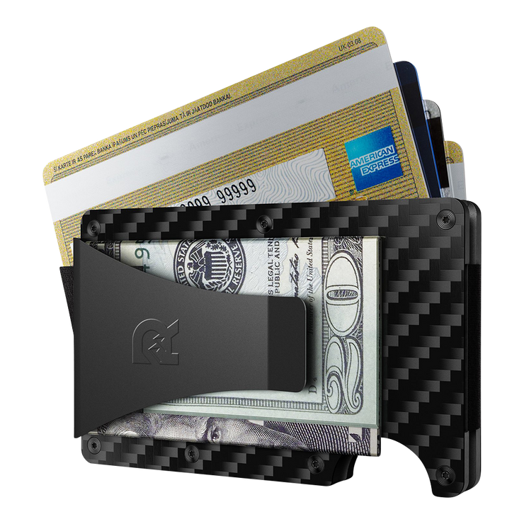 The Ridge Carbon Fibre 3K Money Clip Wallet - Money Clip