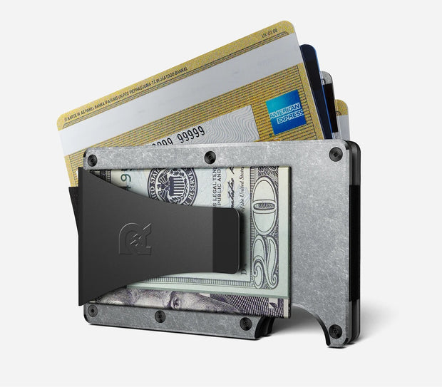 The Ridge Titanium Money Clip Wallet (Stonewashed) - Money Clip