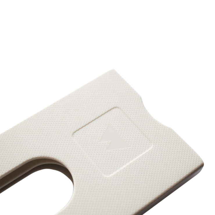 Walter Stack & Slide ABS Card Wallet (Bright White) - Close Up