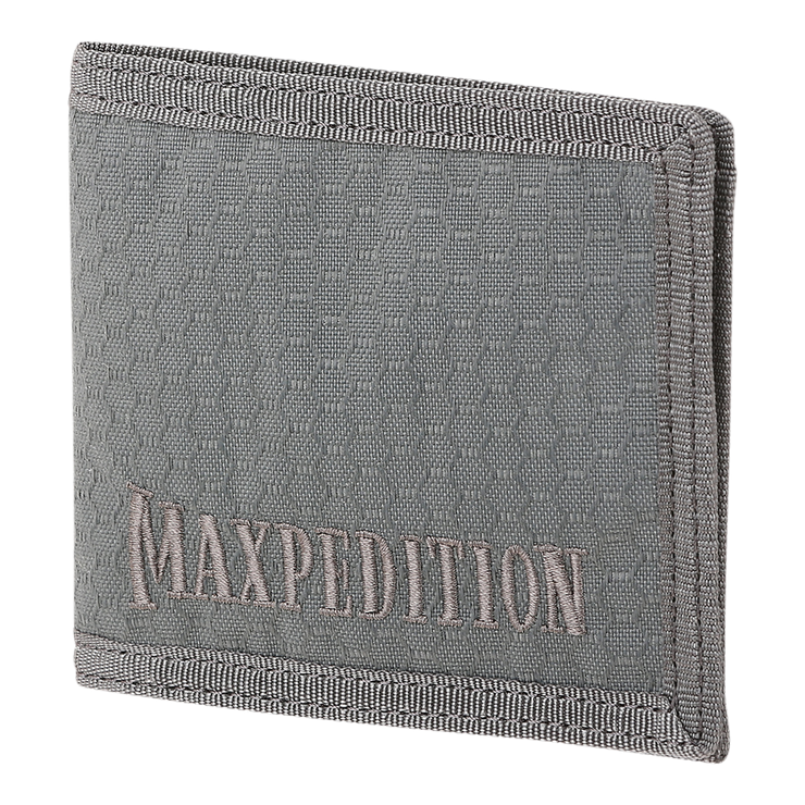 Maxpedition AGR BFW Bifold Wallet (Grey) - Front View