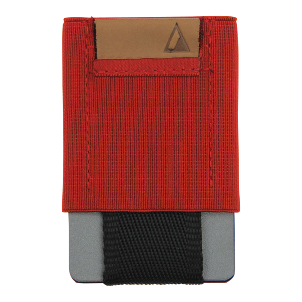 Nomatic Basics Slim Minimalist Wallet (Red) - Front View