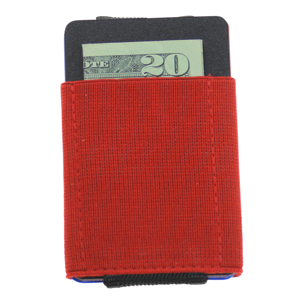 Nomatic Basics Slim Minimalist Wallet (Red) - Back View
