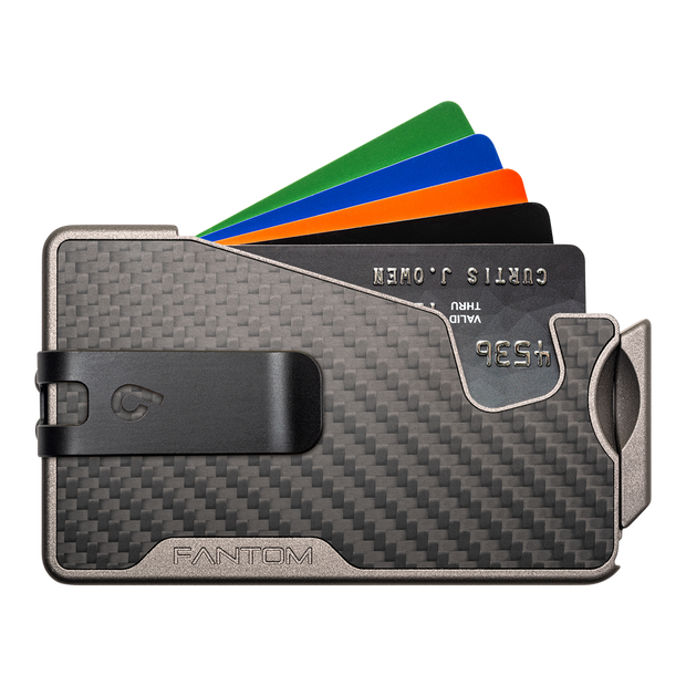 Fantom R 10 Carbon Fibre Wallet - Black Money Clip